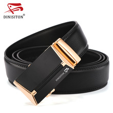 купить DINISITON Top Brand Designer Belt Man Cow Genuine Leather Belts For Men Automatic Buckle Strap Fashion Waist Male ceinture femme по цене 565.64 рублей