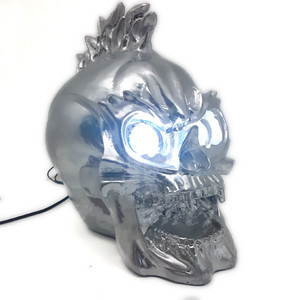 Image 5 - Zilver Led Skull Head Light Koplamp Lamp Cruiser Chopper Bobber Touring Custom Motorfiets