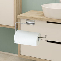 Stainless Steel Kitchen Wiping Cloth Hook Hanger Paper Dish Rag Holder Wash Cloth Towel Door Rack