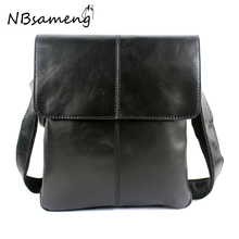 100% Genuine Cowhide Leather Shoulder Bag For Men Bussiness Crossbody Bags Bolsa Feminina Briefcase 2017 New Fashion Men's Bag