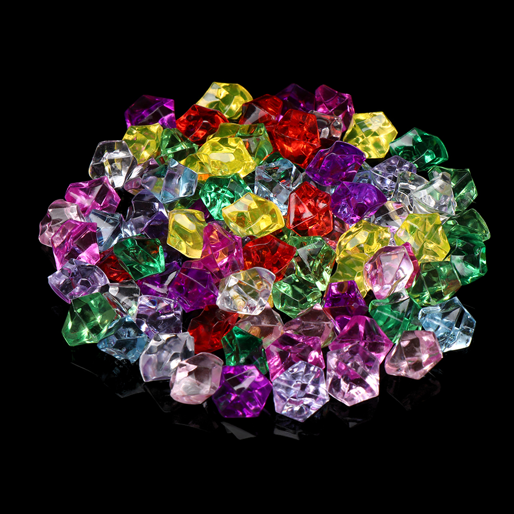 50Pcs/bag Colorful 1.4*1.1cm Vase Filler Pebble Aquarium Acrylic Stones Crystal Ice Cubes Decor Fish Tank Home Ornament