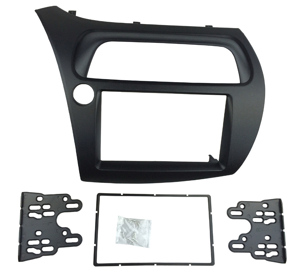 ФОТО Double Din Fascia for Honda Civic Radio DVD Stereo CD Panel Dash Mounting Installation Trim Kit Face Frame Bezel
