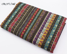 CMCYILING Bronzed Fabrics Bohemia Ethnic Printed Cotton Fabric For Sewing Dress Skirt Cloth Home Textile Woven Telas