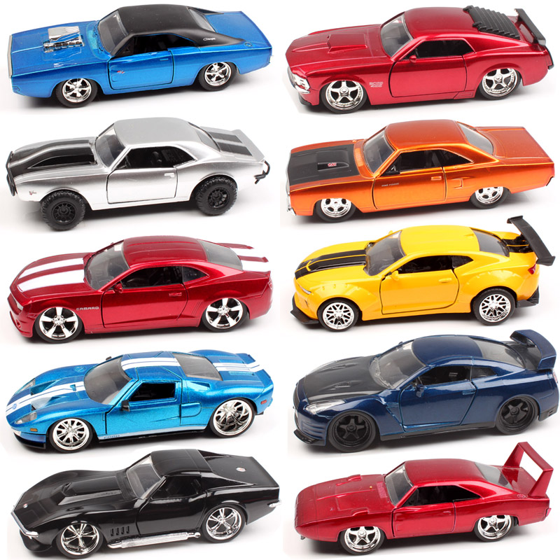 1:32 Scale Fast and Furious Plymouth Chevy Belair Camaro Dodge Charger ford mustang Pontiac Nissan GTR diecast car model toy kid 1 32 scale jada jdm tuners ford gt datsun 510 chevy pickup honda nsx mazda rx 7 nissan skyline gt r r35 diecast racing model toy