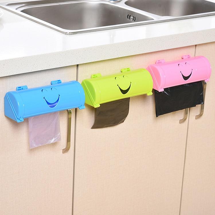 Urijk Garbage-Bag Kitchen-Accessories Wall-Mounted Plastic For Storage-Organizer Simle-Shape