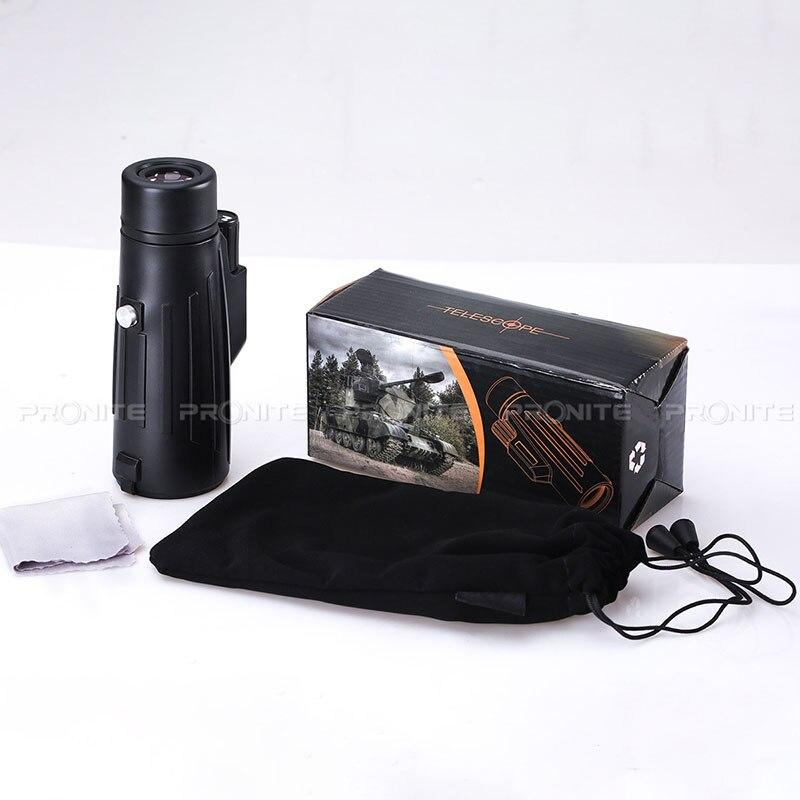 Image 3 - Профессиональный Монокуляр зум 10x42 телескоп HD бинокль ночного видения охотничьи прицелы Turizm Spyglass с держателем телефона/штативом-in Телескоп и бинокли from Орудия