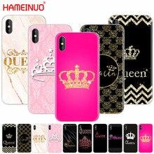 HAMEINUO королева и король корона Coque сотовый телефон чехол для iphone X 8 7 6 4 4S 5 5S SE 5c 6s plus