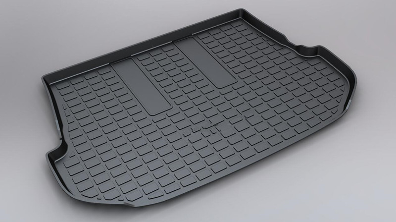 For Toyota Fortuner 2016 Custom Fit TPO Car Cargo Rear Trunk Mat Boot Liner Tray All Weather Waterproof custom fit car trunk mats formazda cx 5 2018 5 seats waterproof leather pet mat car styling all weather tray carpet cargo liner