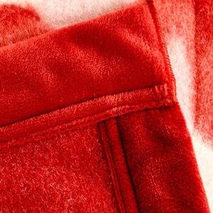 Image 3 - Korean Style Cashmere Raschel Blanket One Layer Floral Printed Soft Warm Plaid Queen Size Winter Warm Bed Sheet Mink Blankets