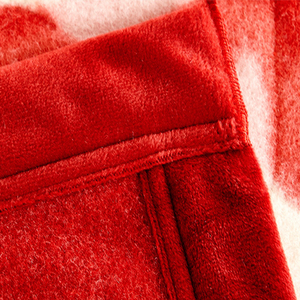Image 3 - שמיכת Raschel שכבה אחת פרחוני מודפס קשמיר בסגנון קוריאני משובץ חם רכה שמיכות מינק חורף גודל מלכת סדין למיטה חמה