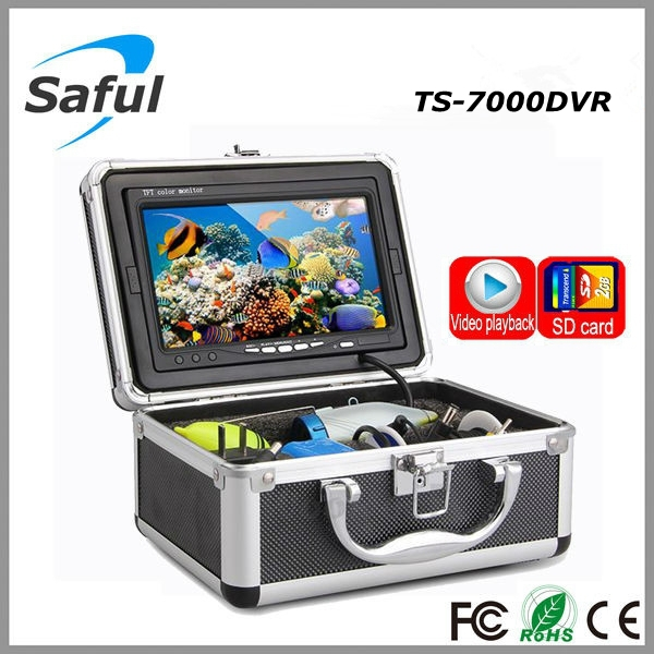 Color CCD and HD 800 TV lines 7''LCD Monitor underwater fishing video camera System with 15m Cable Visual Fish Finder kit ennio sy7000d 15m ip68 hd underwater video camera system