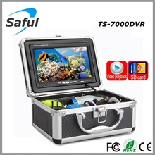 """Color CCD and HD 800 TV lines 7""""LCD Monitor underwater fishing video camera System with 15m Cable Visual Fish Finder kit"""