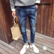 New Arrival Fashion Men's Jeans Water-washed Straight Pants Blue Ripped Jeans Men Robin Men'S Skinny Jeans men Plus Size 36 C021