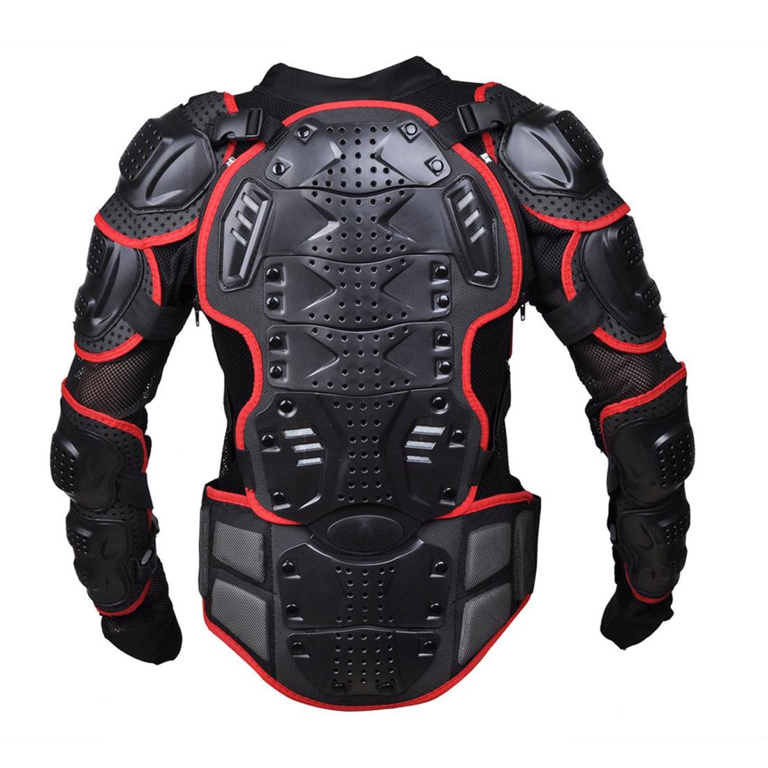 Dongzhen moto veste moto armure Protection Motocross vêtements veste croix dos/rouge armure protecteur course Automobile - 2