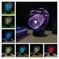 The camera Lampara LED 3D Night Light Acrylic 3D Lamp Touch Luminaria USB Table Decor Lamp luminaria Modern Decoration