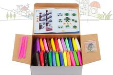 24colors Playdough Set DIY Kid Super Light Air Dry Foam Clay Blocks Play Doh Dough Soft