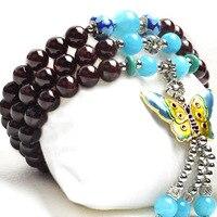 Nouvelle mode 6 mm grade a grenat perles Bracelet tibétain bouddhiste 108 prière perles gourde mala prière Bracelet pour la méditation