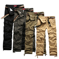 Men's military Pocket cargo pants Men camouflage army sweatpant 2017 Spring Casual pants Plus size 30-44 wear durable