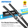 Car Wiper Blade For Skoda Octavia 24 19 Rubber Bracketless Windscreen Wiper Blades Wiper Car Accessories