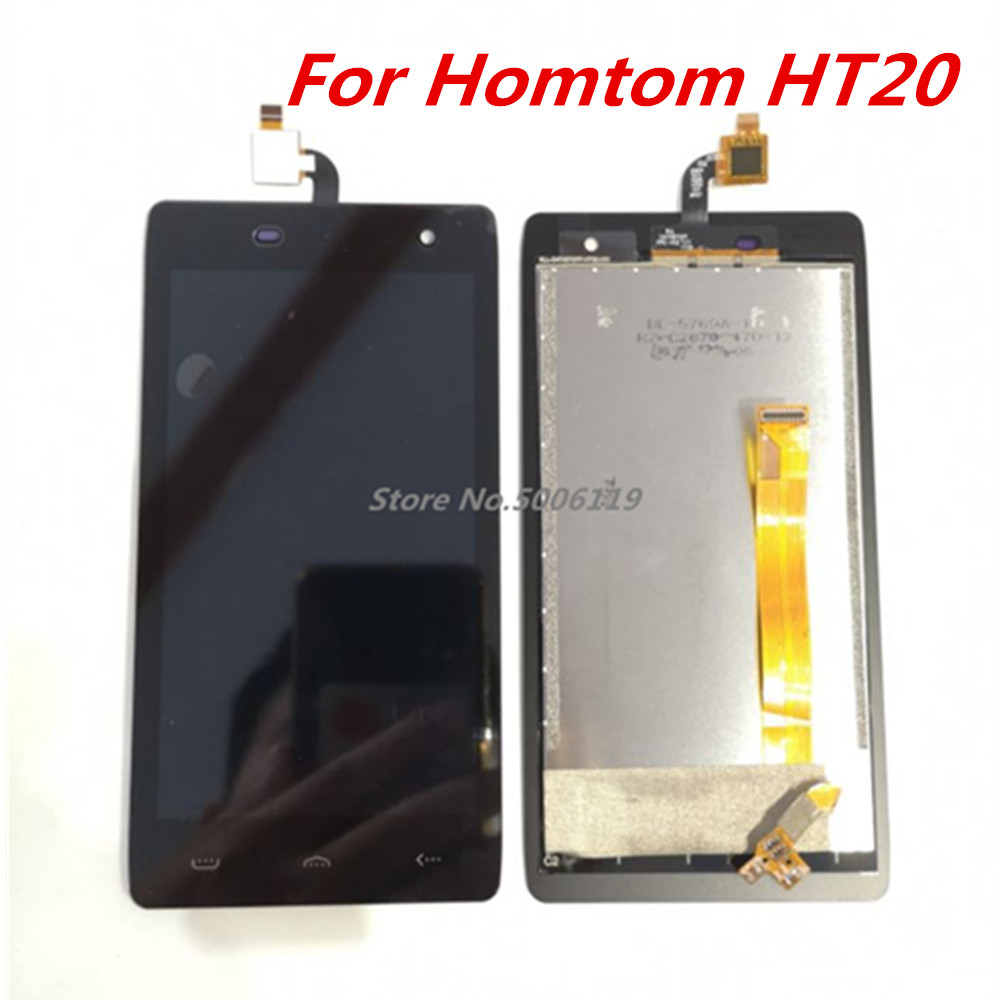 Image 2 - New For HOMTOM HT20 Cell Phone LCD Display + Touch Screen Digitizer Assembly Replacement Glass For homtom ht20 pro-in Mobile Phone LCD Screens from Cellphones & Telecommunications