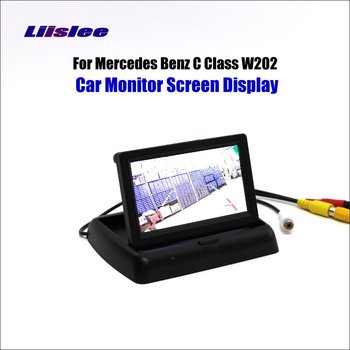 Liislee For Mercedes Benz C Class W202 Foldable Car HD TFT LCD Monitor Screen Display / NTSC PAL Color TV System image