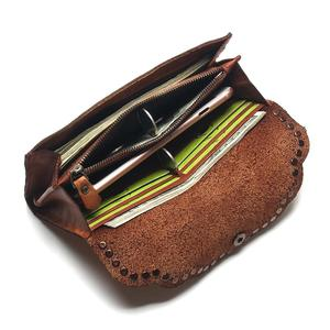 Image 5 - TAUREN Brush Color Clutch Anchor Nail Genuine Leather Women Wallets Purse Long Design High Capacity Cell Phone Pocket Coin Purse