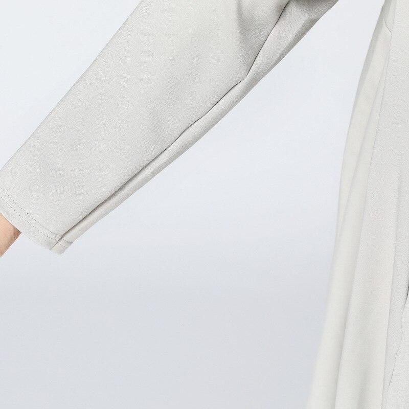 O Femminile Pieno Di collo Kong Irregolare Vestito grey Kzh2360 Autunno Kzh2360 Stampa Black Donne Modello Cardigan Manicotto 2018 xitaoHong Del Nuovo Puntino mO80wNvn