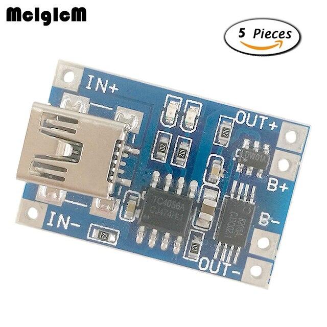 Mcigicm 5 шт. DIY Kit Запчасти MINI-USB 1A литиевых Батарея зарядки доска Зарядное устройство модуля с защитой TP4056 18650 пластины