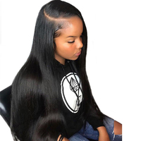 Pre Plucked Straight 360 Lace Frontal Wig With Baby Hair Human Hair Wigs For Women 150% Density Brazilian Virgin Hair You May