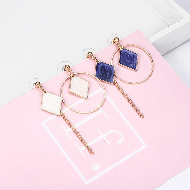 E0340 Inrregular Temperament Geometry Drop Earrings Hollow Triangle Alloy Strip Dangle Pendientes Earrings For Women Brincos