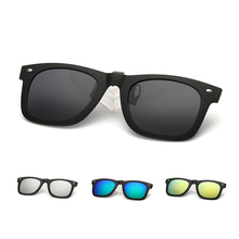 New Square TR90 Polarized Sunglasses Unisex Men Women Myopia Clip On Eyeglasses Lens Night Vision Driving Glasses Rice Nail L3