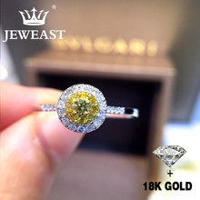 Natural Diamond 18K Gold Pure Gold Ring Beautiful Gemstone Ring Good Upscale Trendy Classic Party Fine Jewelry Hot Sell New 2018(China)