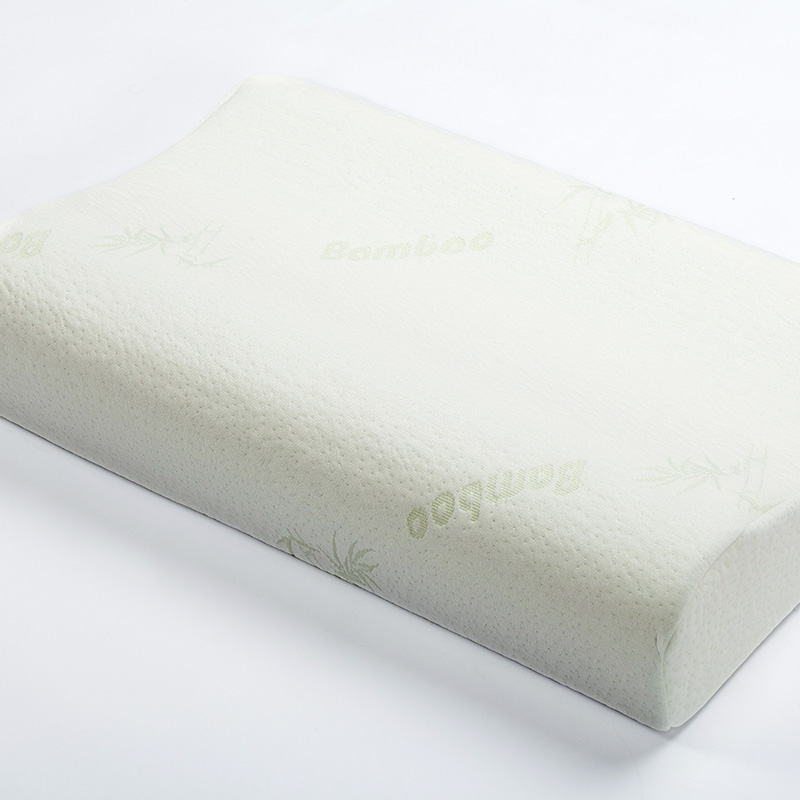 bamboo fiber pillows memory foam neck orthopedic pillow bedroom sleeping pillow one piece free shipping
