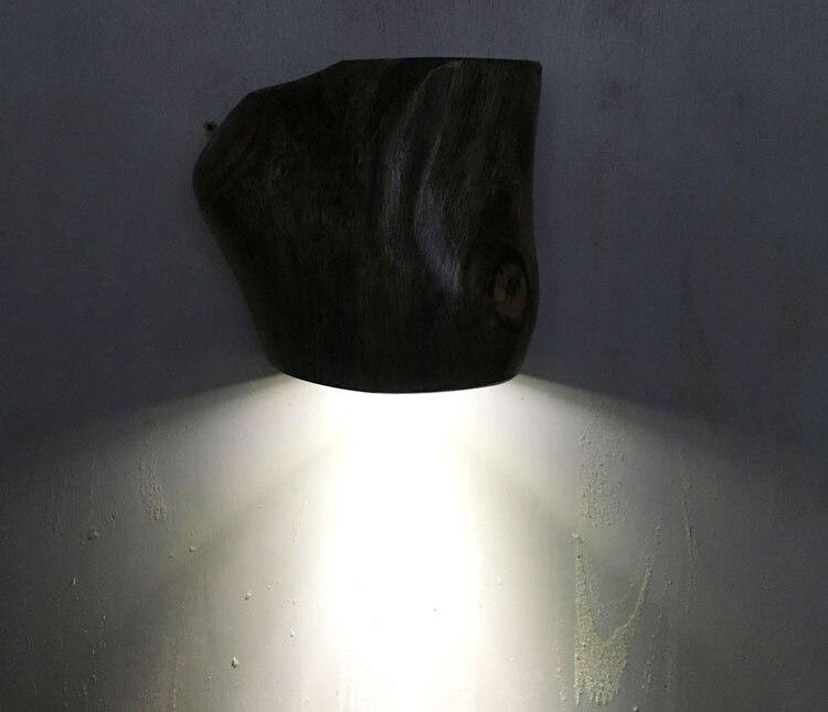 de madeira maciça do vintage lâmpada 3