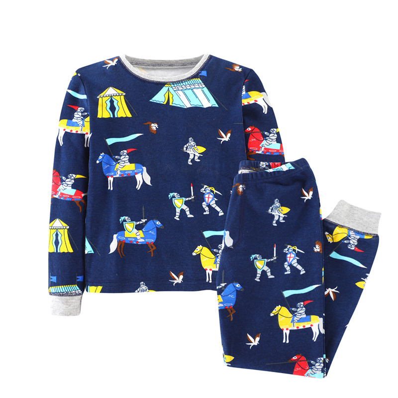 Big sizes Retail Children boys clothing sets with printed Spring Autumn baby Clothes Suit tops + Pants boy Kids Clothing Set