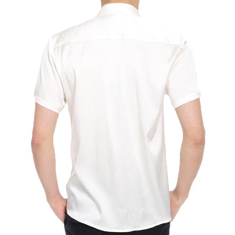 Il nuovo 2019 Della Tasca di Seta di Seta Pura Mens Camicia A Maniche Lunghe camicia di seta di estate maschio sottile di business high end - 2