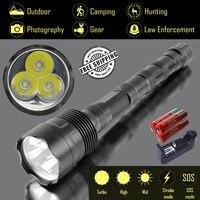 Explorer-aq 4000lm 3xcree xm-l T6 мощный светодиодный фонарик, 5 режимов Тактический фонарь, torch Light 3X18650, Военная униформа, Отдых на природе,