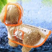 Прозрачный ПВХ водонепроницаемый светильник для домашних животных одежда с дождевик с капюшоном одежда для домашних животных водонепроницаемый дождевик для маленьких собак
