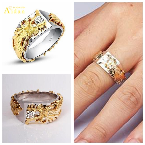accessories marry women ring party men yellow plated and piece jewelry glaze wedding rings store for bride gold with product male online