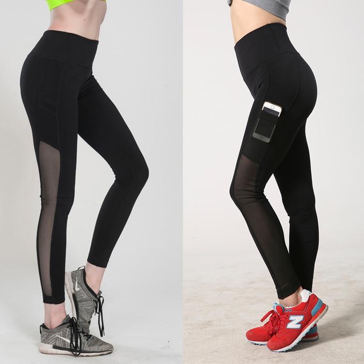 Prix pour 2015 New imprimé Mesh Yoga pantalons femme de haute qualité pantalons de Sports de plein air exercice Workout Gym Fitness Joggers collants pour femmes