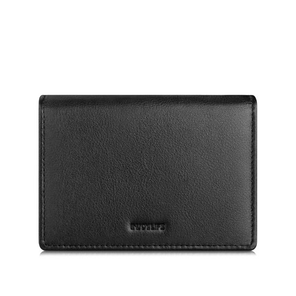 free shipping PaecKet real Leather men Business card holder