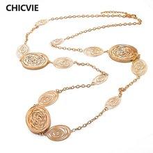 Chicvie ожерелья дружбы золотого цвета с кристаллами кулоны