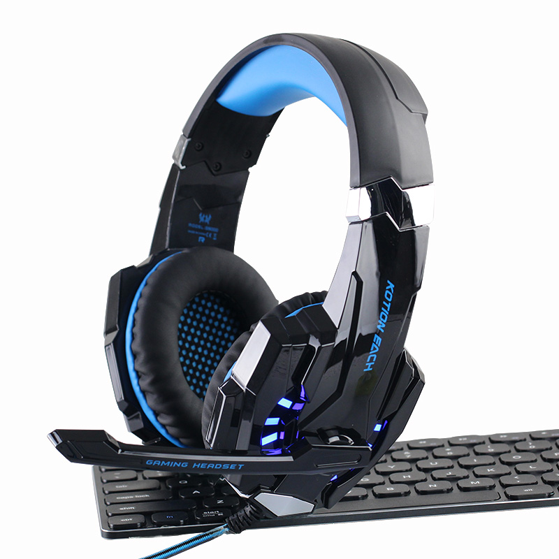 G9000 Over-ear Gaming Headset Gamer casque 3.5mm Gaming Headphones for Computer PC PS4 Laptop Notebook with Microphone LED onikuma m190 pc gamer headset over ear best gaming headphones with microphone for computer casque bass stereo earphones headsets