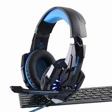 G9000 Over-ear fone de Ouvido de Jogos casque Gamer 3.5mm PS4 Gaming Headphones para Computador PC Notebook Laptop com Microfone DIODO EMISSOR de luz