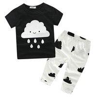 Wholesale Summer Baby Boys Girls Clothes T Shirt Pants Cotton Suit Children Set Kids Clothing Bebe
