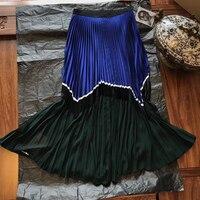 Лоскутная юбка женские юбки лето Повседневное юбки юбка Русалочий хвост Mujer Moda Jupe Femme