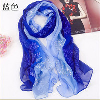 Mu1119 Really Silk And Gold Thread Hand Embroidery Flower Beaded Shawl Fashion Noble Design Ladies Wrap