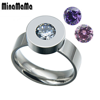 d897c3a38dff Moda 3 color ZIRCON piedra cristal intercambiable Anillos plata color 316l  Acero inoxidable Anillos para las