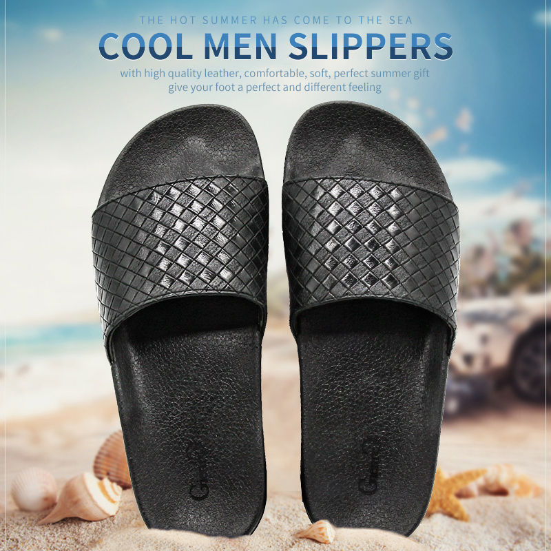 Gienig 2018 men slippers summer fashion soft bottom leisure trend home cool slippers comfortable simple men beach slippers