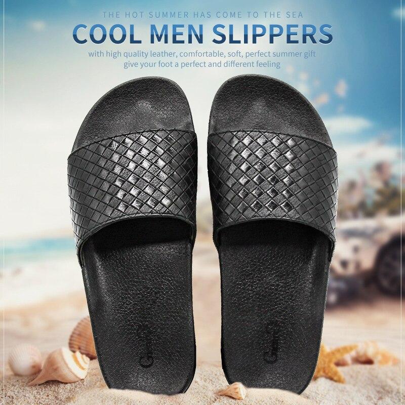 Gienig 2018 men slippers summer fashion soft bottom leisure trend home cool slippers comfortable simple men beach slippers